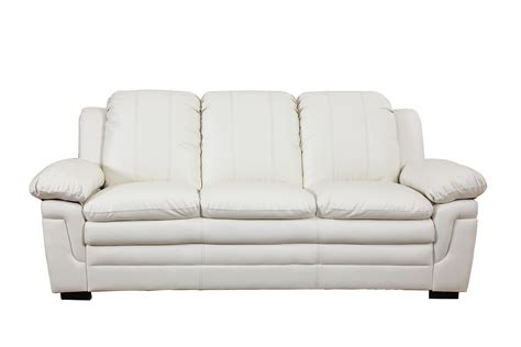 White Leather Sofa Ebay by Classic Soft Bonded Leather Living Room Sofa In White Ebay