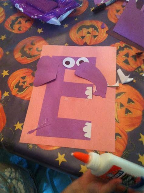 elephant letter craft  pattern alphabet