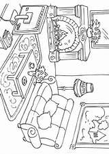 Coloring Living Printable Da Una Adult Colorare Sheets Para Colorear Dibujo Casa Rooms Dibujos Scegli Bacheca Getcolorings Drawings Draw Getdrawings sketch template