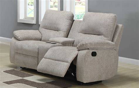 Fabric Reclining Loveseat With Console by 9716 Marianna Fabric Motion Sectional Sofa By Homelegance