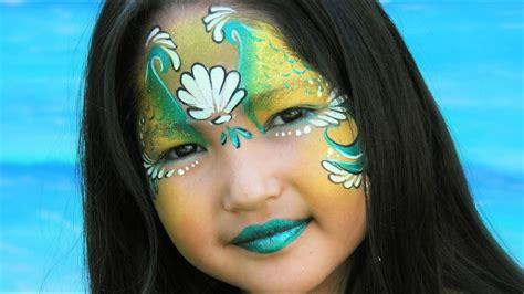 kinder schminken anleitung meerjungfrau schminken meerjungfrau kinderschminken vorlage anleitung
