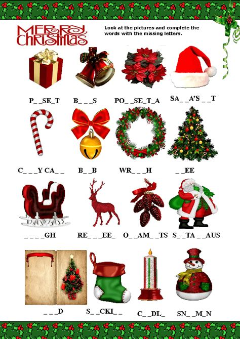 4 letter christmas words missing letters activity 20101 | 1387141205 christmas missing 2013 0