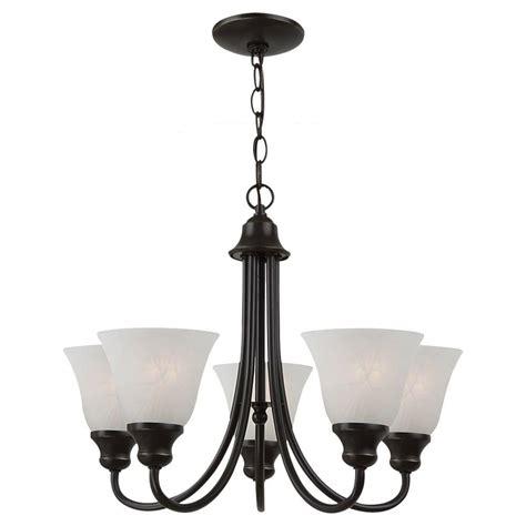 single chandelier sea gull lighting windgate 5 light heirloom bronze single