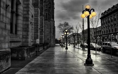 Yellow Nature Desktop Lights Street Walk Cities