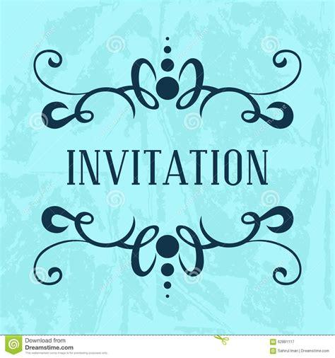 invitation vector template stock illustration image
