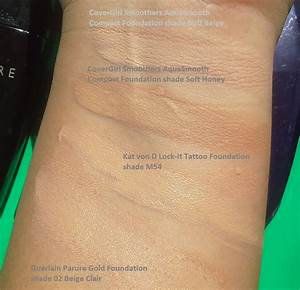 Kat Von D Foundation Color Chart Covergirl Smoothers Aquasmooth Foundation Travelingblush Com
