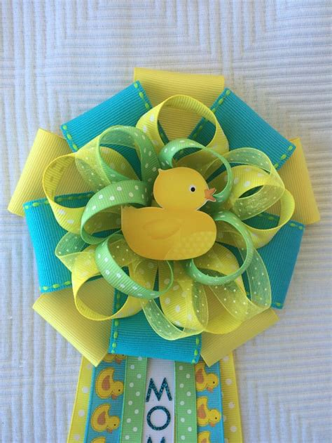 Baby Shower by Baby Shower Duck Yellow And Green Corsage Gender Reveal