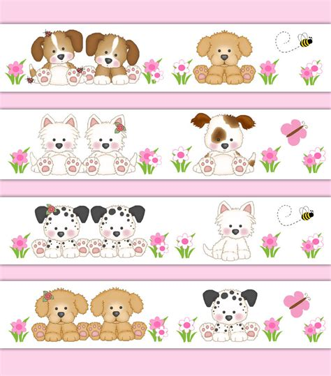 Animal Border Wallpaper - puppy wallpaper border wall decal sticker baby