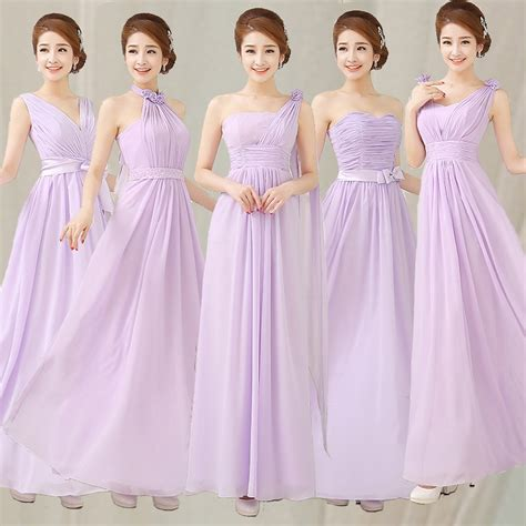 cheap bridesmaid dresses   long liliac light purple
