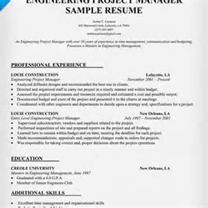 management skills resume exle engineering managers resume sales engineering lewesmr