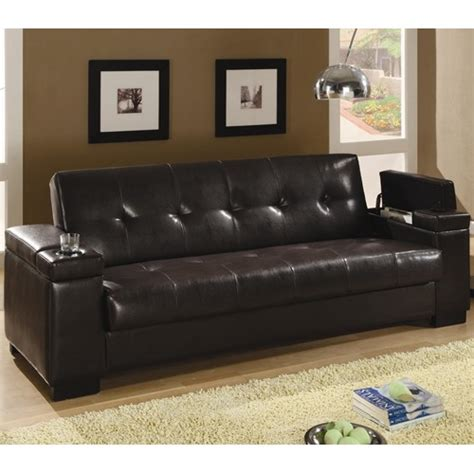 coaster leather sectional sofa coaster faux leather convertible sofa sleeper with storage