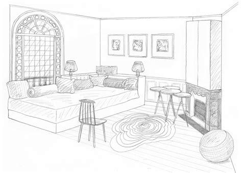 chambre en perspective dessin dessin chambre d 39 appoint rdc interior perspective