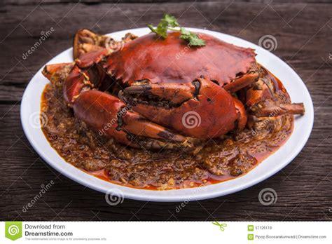 cuisine de l 39 asie de crabe de piments image stock image