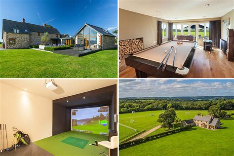 Driving Range For Sale Uk by Luxury Five Bed Farmhouse Boasting Size Rugby And Football Pitches And Indoor Driving Range