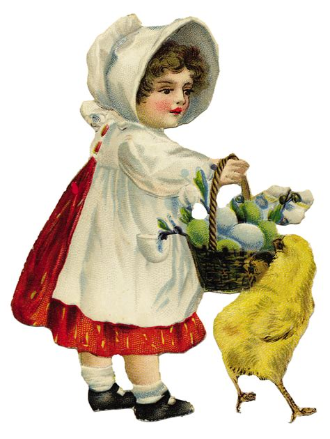 graphic   day  vintage easter girl