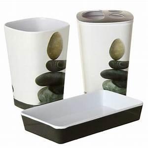 Set De 3 Accessoires Salle De Bain Zen