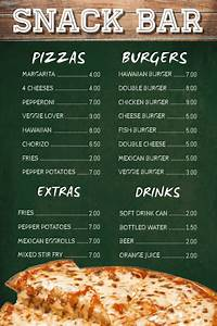 Restaurant Recipe Cards Snack Bar Cafe Menu Template Postermywall
