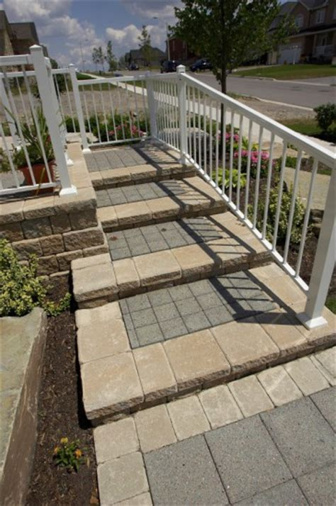Unilock Steps - entrance steps by unilock with series 3000 paver photos