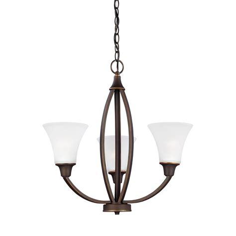 sea gull lighting chandelier sea gull lighting metcalf 3 light autumn bronze chandelier