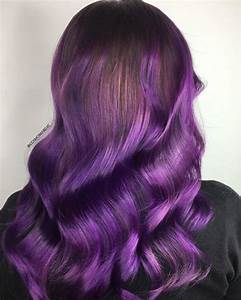 50  Great Ideas Of Purple Highlights In Brown Hair  August  2019