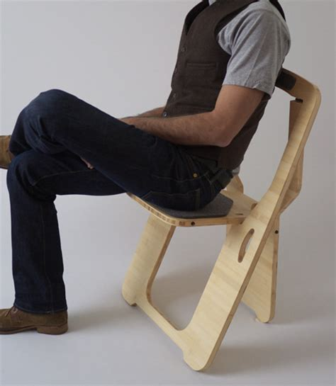 flat pack folding chair with a high wow factor