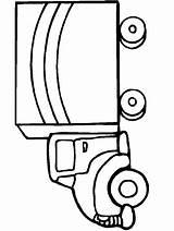Coloring Truck Trucks Transportation sketch template