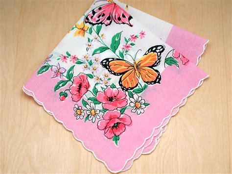 image gallery monogrammed handkerchiefs vintage inspired butterfly printed handkerchief
