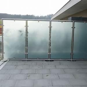 Sichtschutz Balkon Panther Glas AG