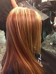 Red copper blonde highlights fall hair | Hair Colors ...