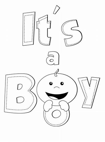 Coloring Boy Its Pages Printable Sheets Babies