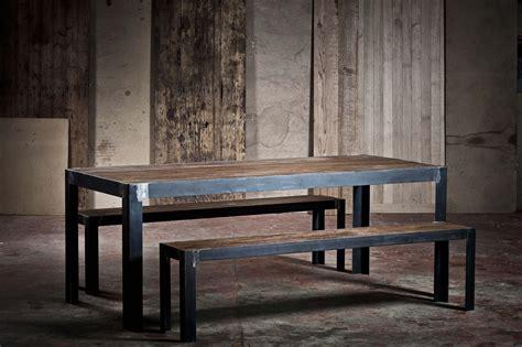 table en metal  chene