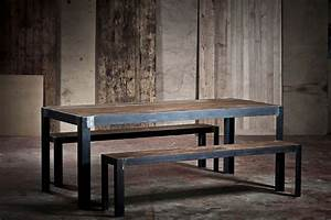 Table En Metal : table en m tal et ch ne ~ Teatrodelosmanantiales.com Idées de Décoration