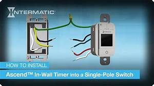 Single-pole Wiring Instructions For The Ascend U2122 In-wall Timer By Intermatic