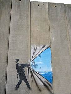 Who Controls Reality?: Rolling Back the Wall, Banksy (2005)