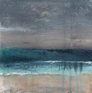 After The Storm- Abstract Beach Landscape Painting by