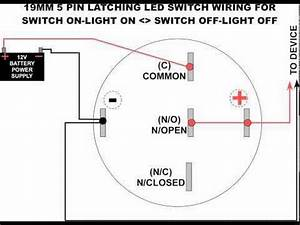 5 pole led push button wiring diagram youtube With led rocker switch wiring diagram further how to wire led strip lights