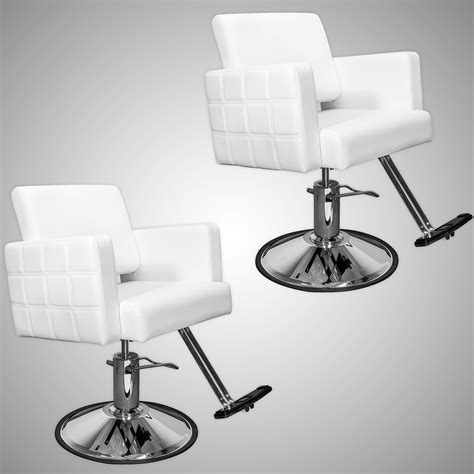 white quilted hair salon styling chair ebay