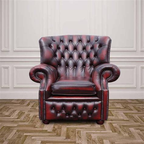chesterfield monks high back wing armchair designersofas4u
