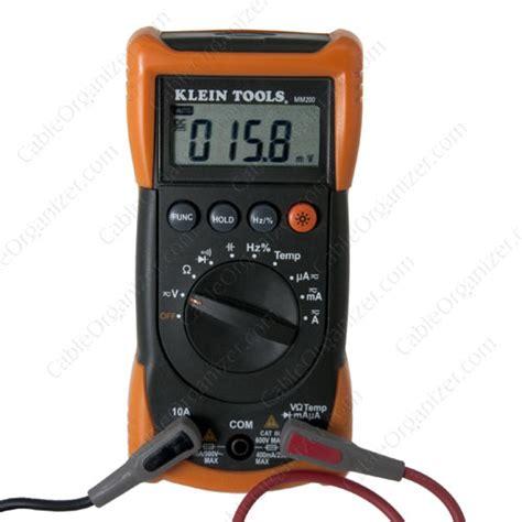 klein tools mm electrical multimeter cableorganizercom