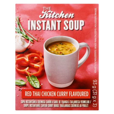 kitchen red thai chicken curry flavoured instant soup