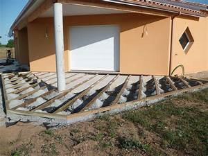 faire une terrasse en bois sur une dalle beton mzaolcom With comment faire une terrasse en bois sur plot beton