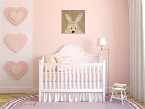 chambre lapin tableau enfant bébé esthéban le lapin en peluche