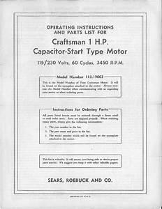 1950s Craftsman 113 19063 Capacitor