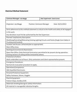 sample method statement template 8 documents in pdf With electrical installation method statement template free