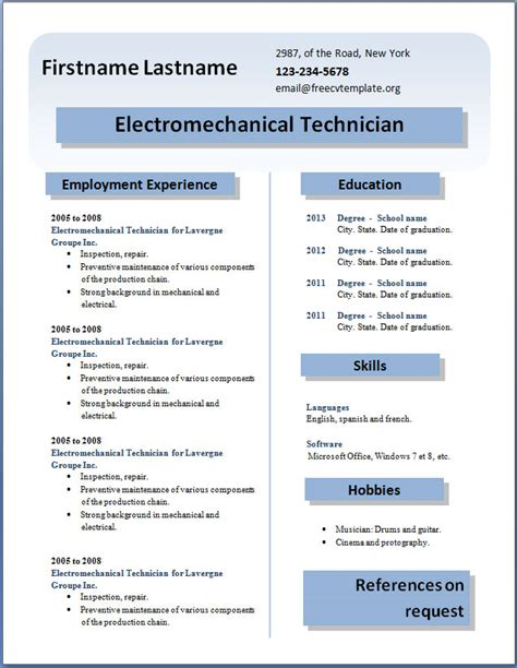 resume templates word 2013 learnhowtoloseweight net