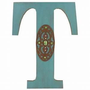 turquoise rustic wood letter t shop from hobby lobby With letter hooks hobby lobby