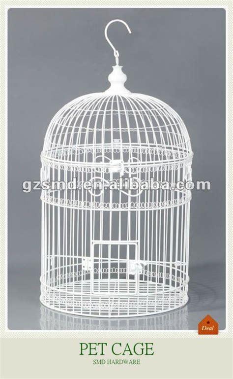 produzione gabbie per uccelli bianco filo di ferro gabbia per uccelli pet gabbia