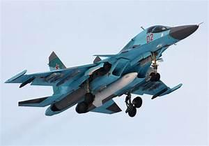 Russian Sukhoi Su-34 Fullback Heavy Strike Fighter ...