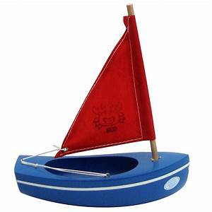 Sailing boat blue-red 200 (crab) - Little French Heart