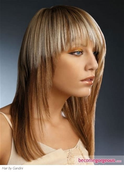 Pictures  Hair Highlights Ideas  Stylish Two Tone Hair Color